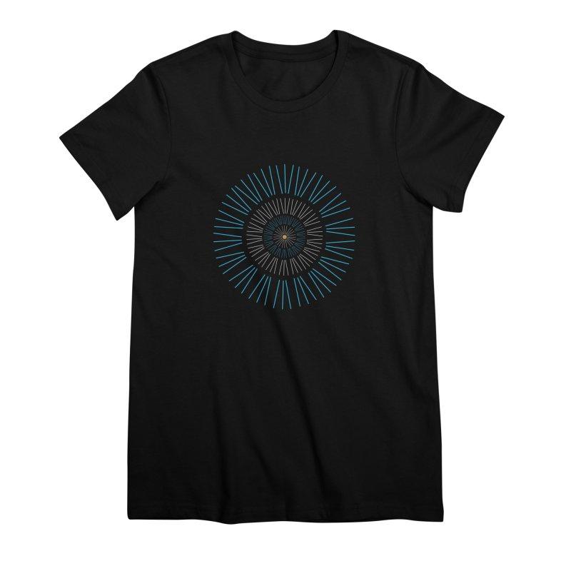 Iris Blue Women's Premium T-Shirt by foxandeagle's Artist Shop