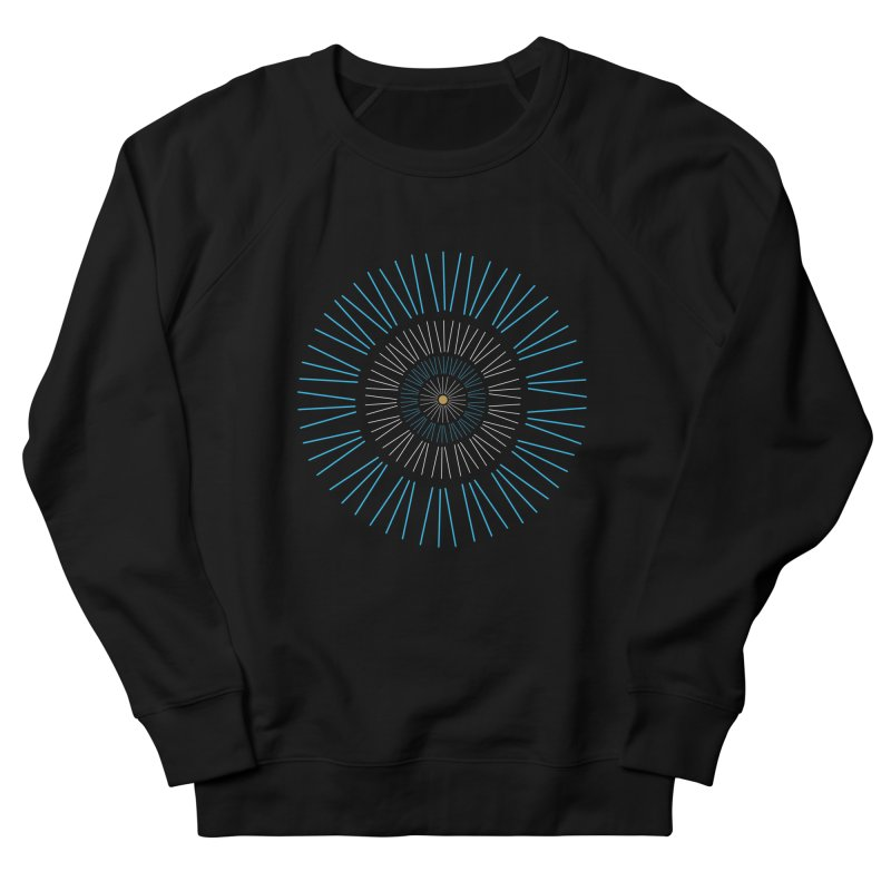 Iris Blue Women's Sweatshirt by foxandeagle's Artist Shop