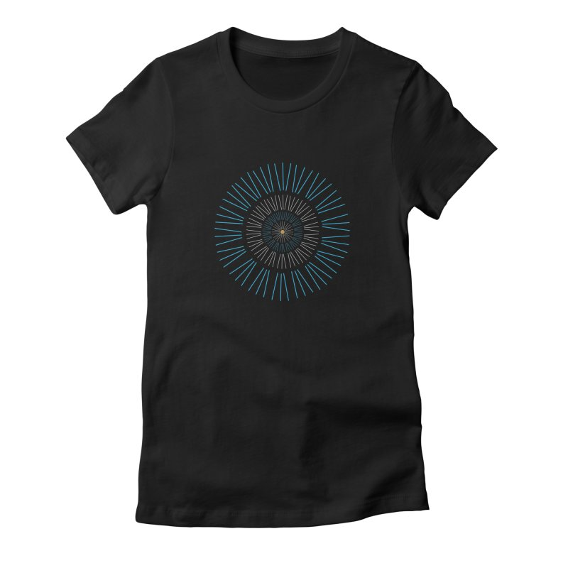 Iris Blue Women's Fitted T-Shirt by foxandeagle's Artist Shop