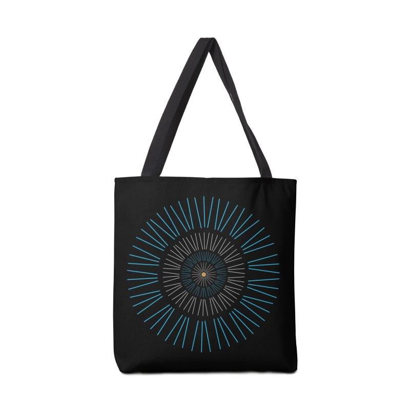 Iris Blue Accessories Bag by foxandeagle's Artist Shop