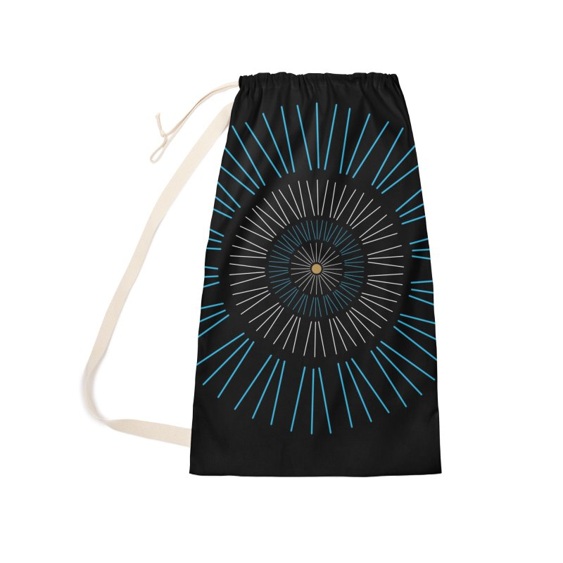 Iris Blue Accessories Laundry Bag Bag by foxandeagle's Artist Shop