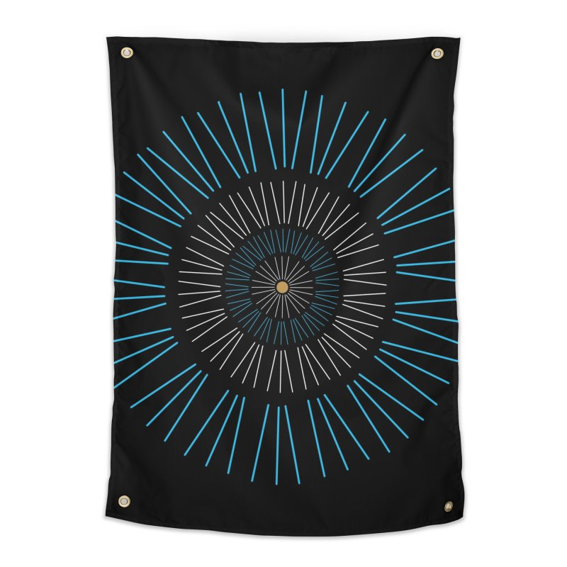 Iris Blue Home Tapestry by foxandeagle's Artist Shop