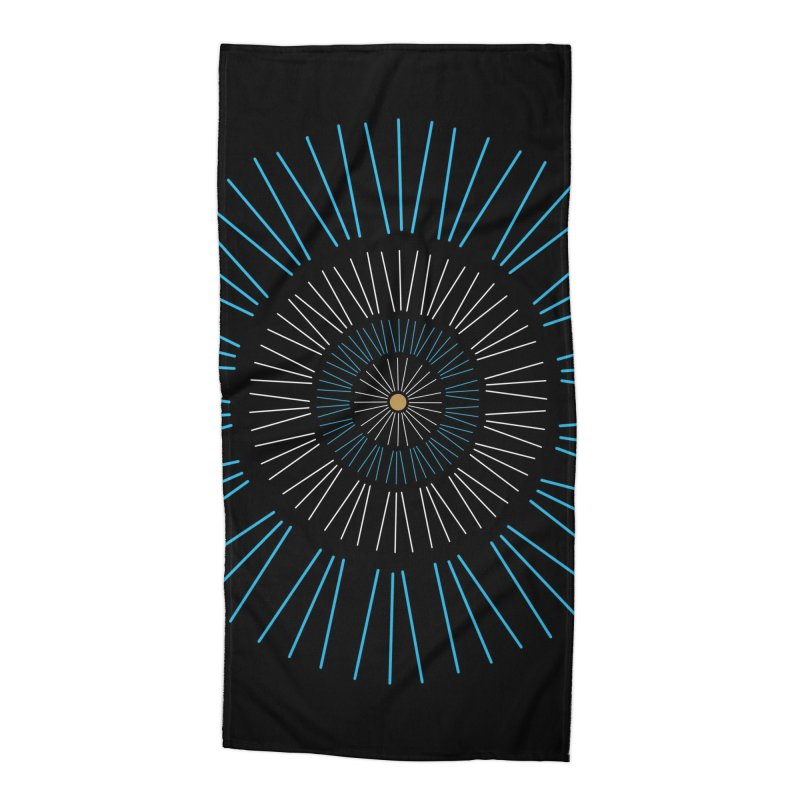 Iris Blue Accessories Beach Towel by foxandeagle's Artist Shop