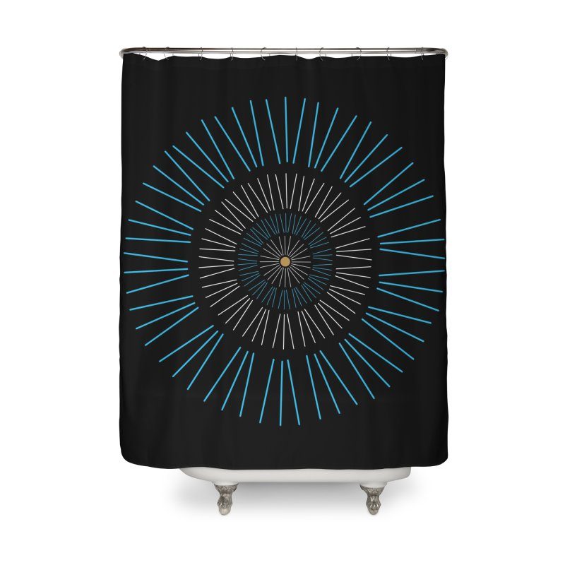 Iris Blue Home Shower Curtain by foxandeagle's Artist Shop