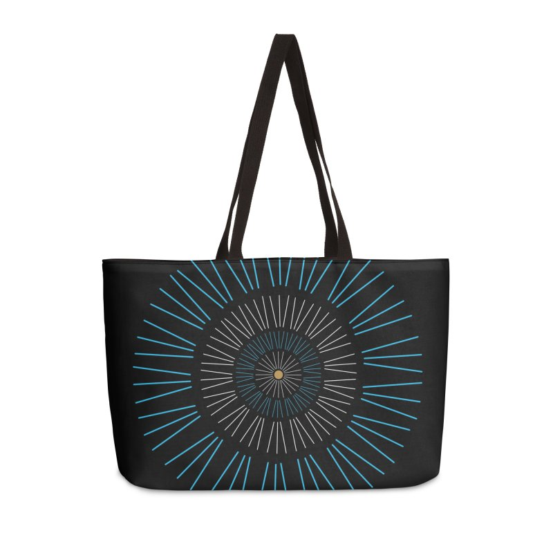Iris Blue Accessories Weekender Bag Bag by foxandeagle's Artist Shop