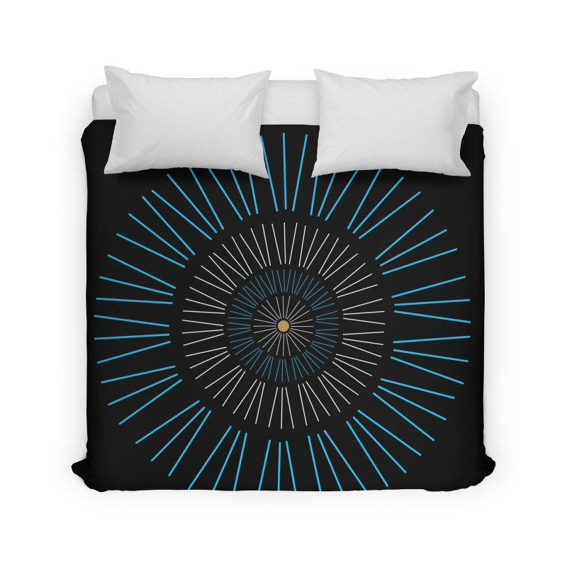 Iris Blue Home Duvet by foxandeagle's Artist Shop