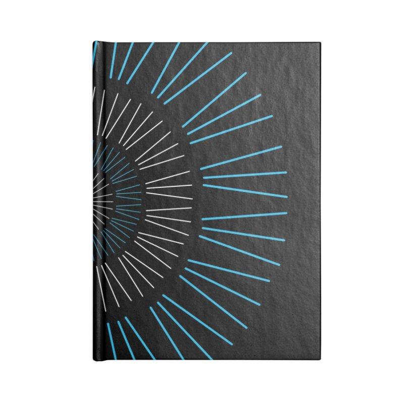 Iris Blue Accessories Notebook by foxandeagle's Artist Shop