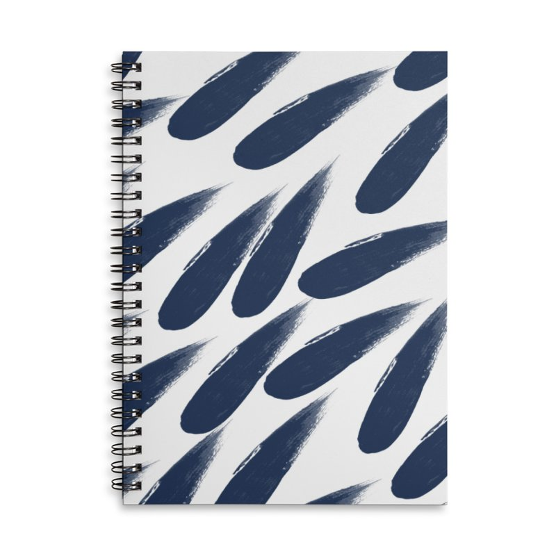 Rain Drops Accessories Lined Spiral Notebook by foxandeagle's Artist Shop