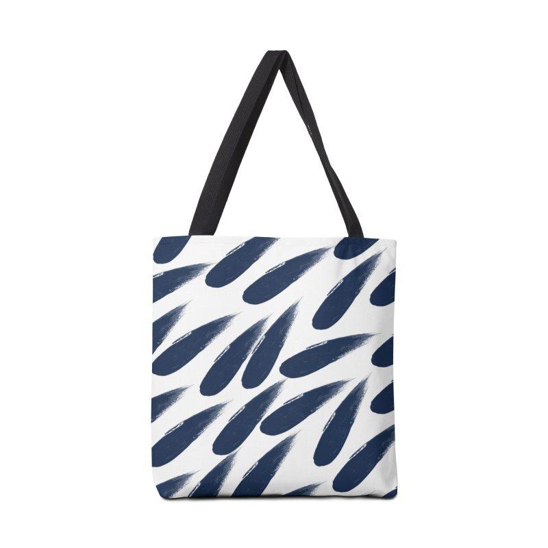 Rain Drops Accessories Bag by foxandeagle's Artist Shop