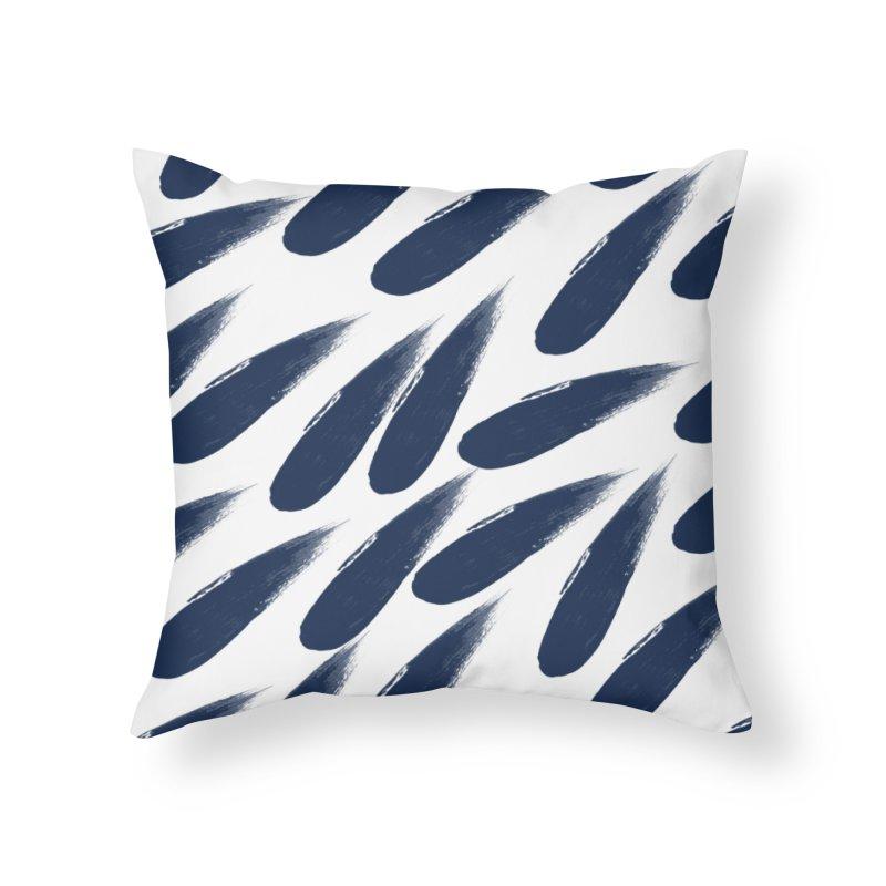 Rain Drops Home Throw Pillow by foxandeagle's Artist Shop