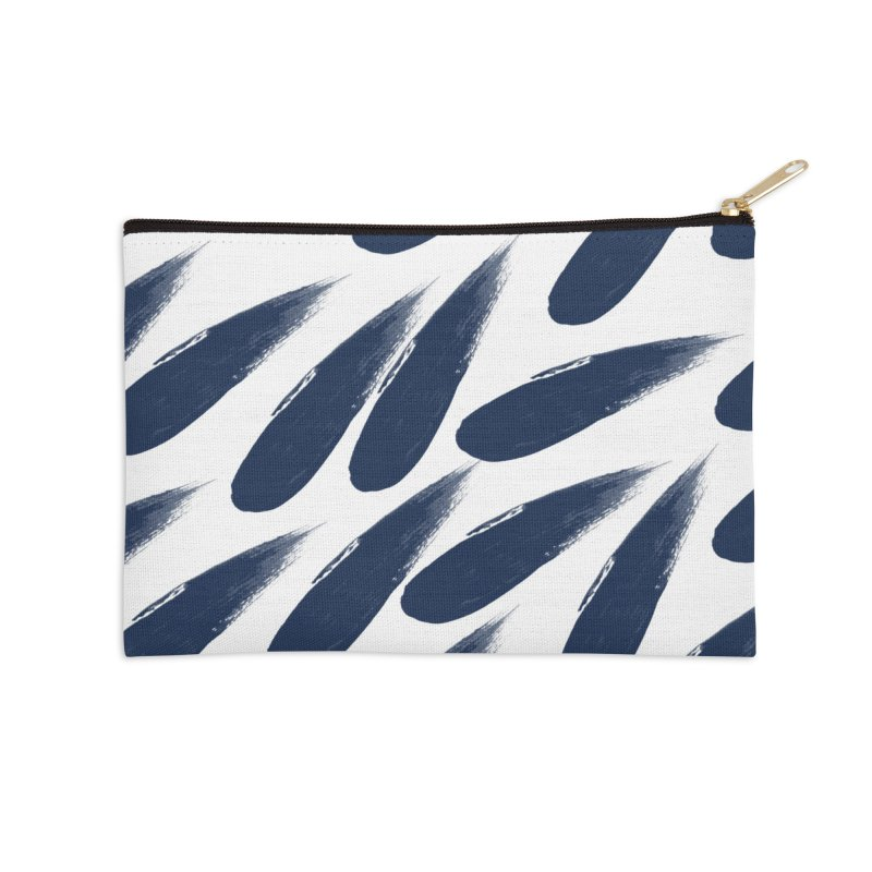 Rain Drops Accessories Zip Pouch by foxandeagle's Artist Shop