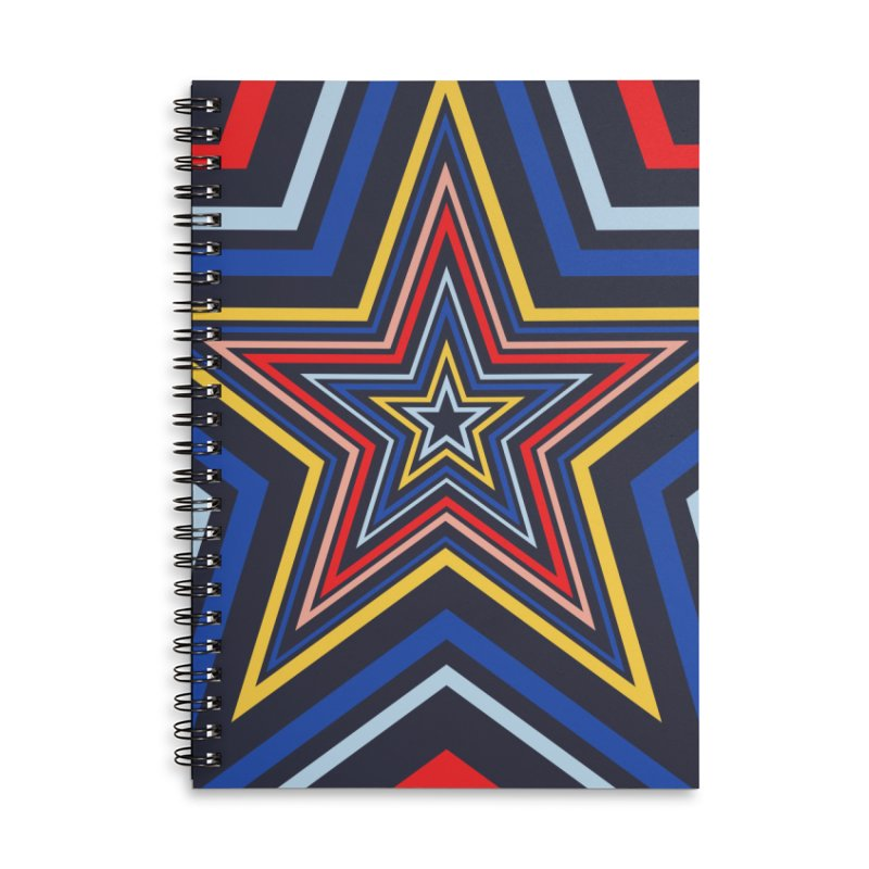 Seeing Stars Accessories Lined Spiral Notebook by foxandeagle's Artist Shop