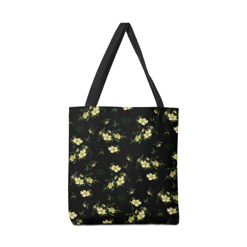 White pattern of flowers Accessories Bag by foxandeagle's Artist Shop