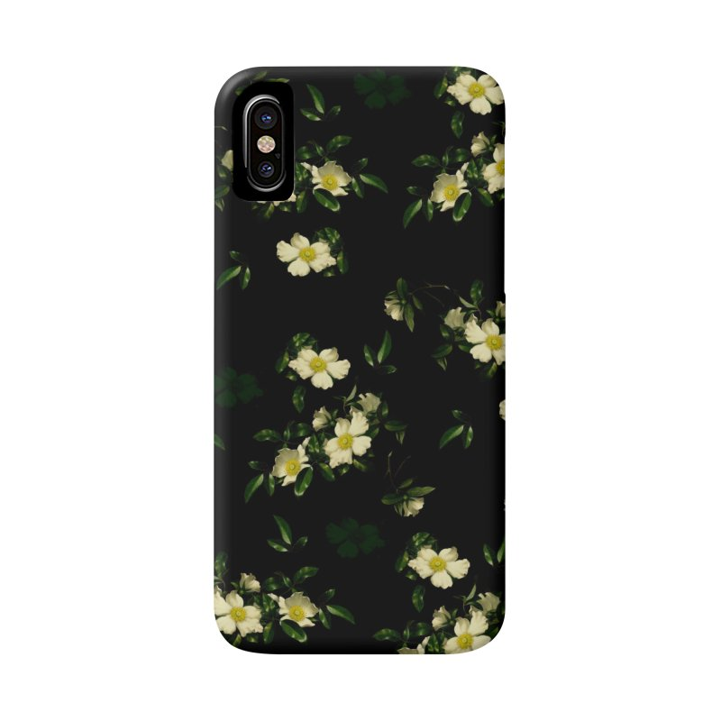 White pattern of flowers Accessories Phone Case by foxandeagle's Artist Shop