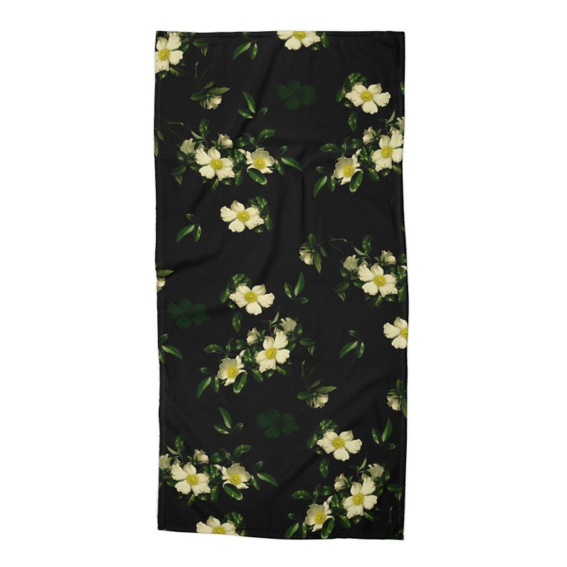 White pattern of flowers Accessories Beach Towel by foxandeagle's Artist Shop