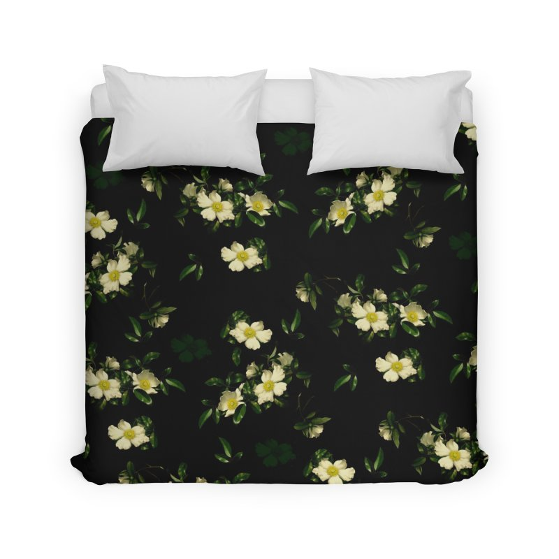 White pattern of flowers Home Duvet by foxandeagle's Artist Shop