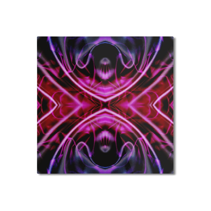 Neon Reflection Home Mounted Aluminum Print by foxandeagle's Artist Shop