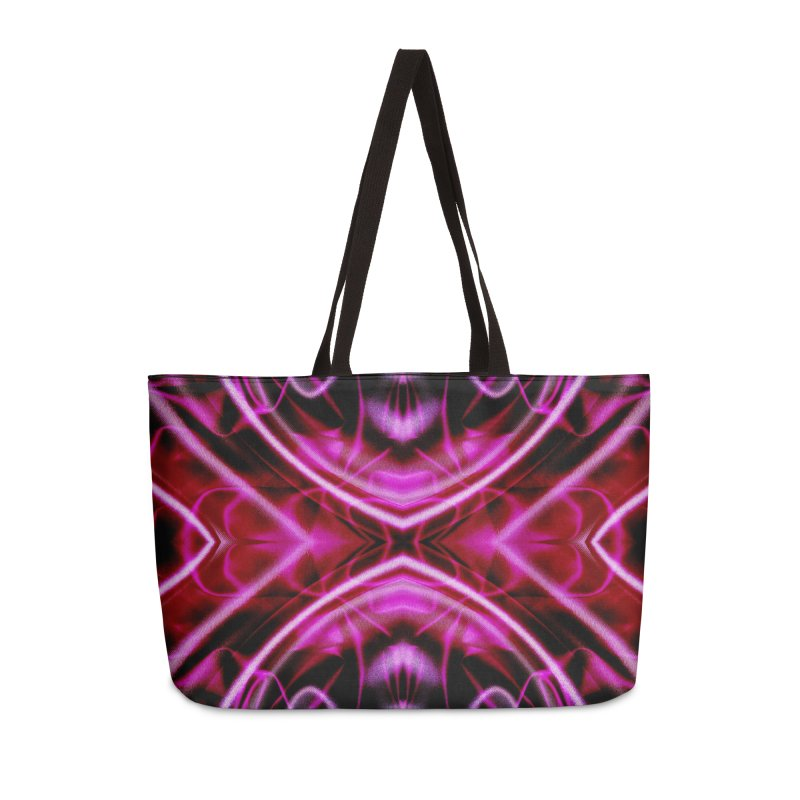 Neon Reflection Accessories Weekender Bag Bag by foxandeagle's Artist Shop