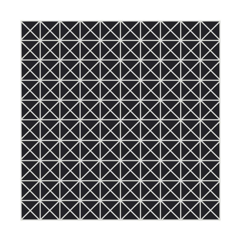 Prism Pattern Black Home Fine Art Print by foxandeagle's Artist Shop