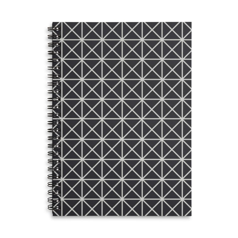 Prism Pattern Black Accessories Lined Spiral Notebook by foxandeagle's Artist Shop