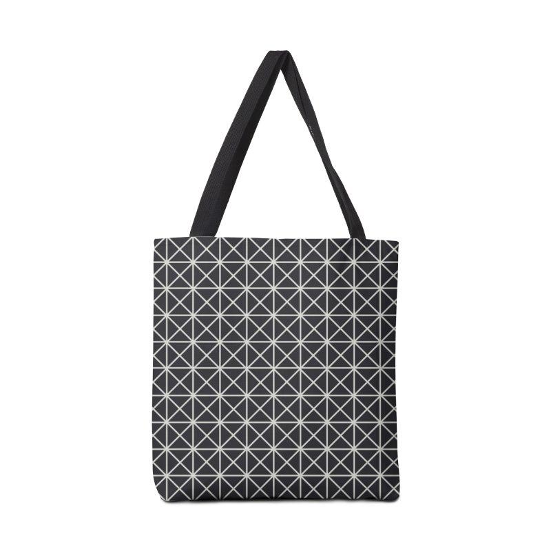 Prism Pattern Black Accessories Tote Bag Bag by foxandeagle's Artist Shop
