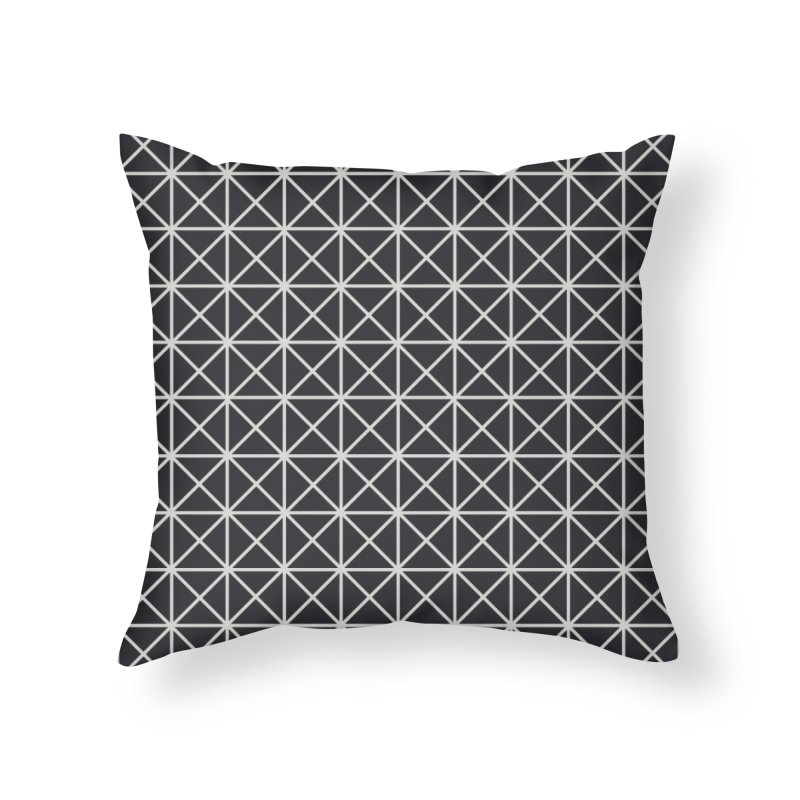 Prism Pattern Black Home Throw Pillow by foxandeagle's Artist Shop