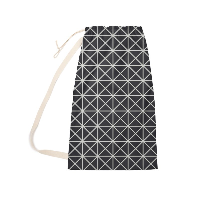 Prism Pattern Black Accessories Laundry Bag Bag by foxandeagle's Artist Shop