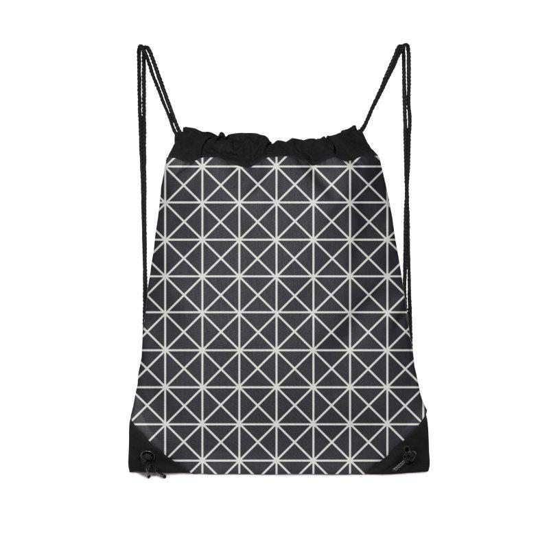 Prism Pattern Black Accessories Drawstring Bag Bag by foxandeagle's Artist Shop