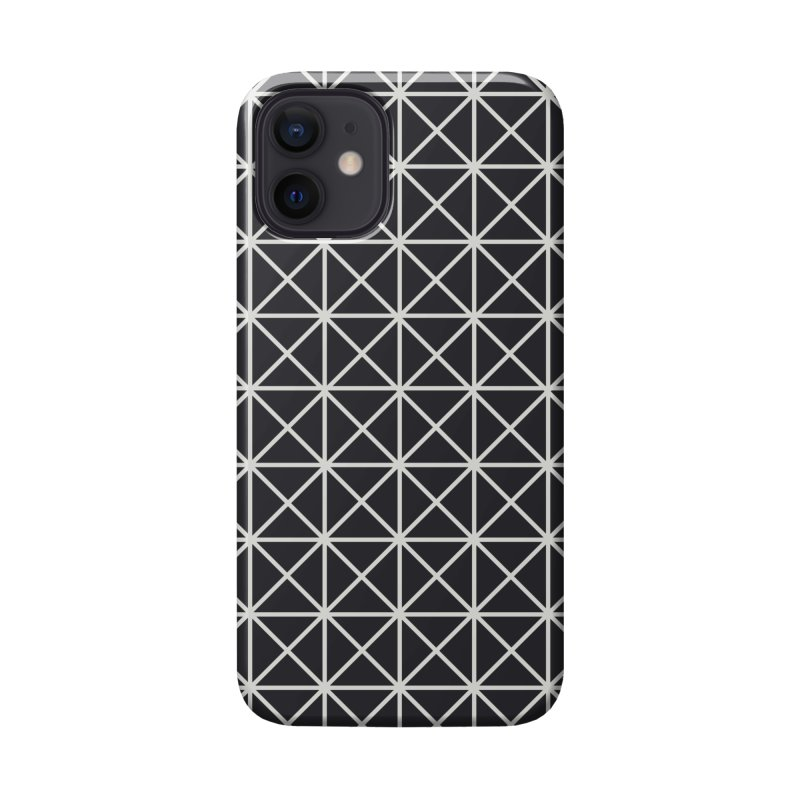 Prism Pattern Black Accessories Phone Case by foxandeagle's Artist Shop