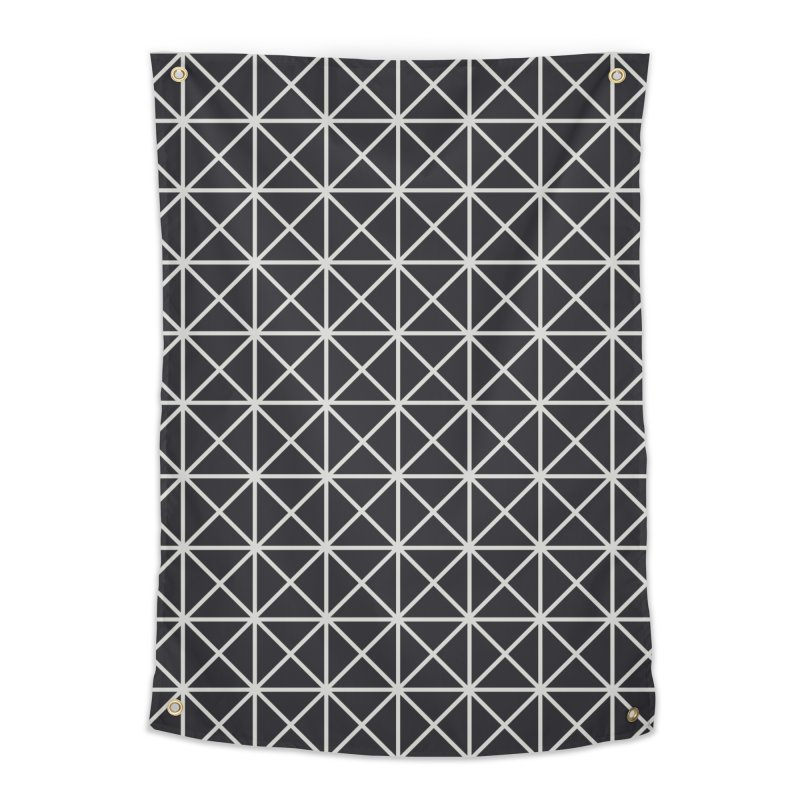 Prism Pattern Black Home Tapestry by foxandeagle's Artist Shop