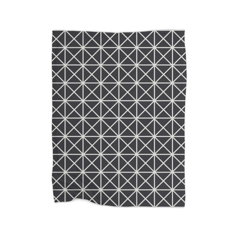 Prism Pattern Black Home Fleece Blanket Blanket by foxandeagle's Artist Shop