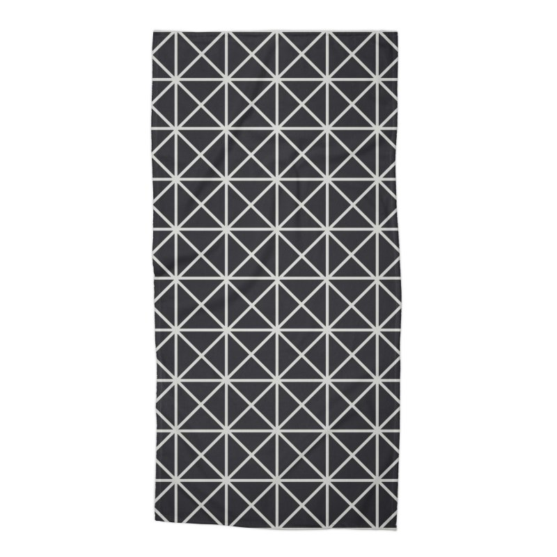Prism Pattern Black Accessories Beach Towel by foxandeagle's Artist Shop