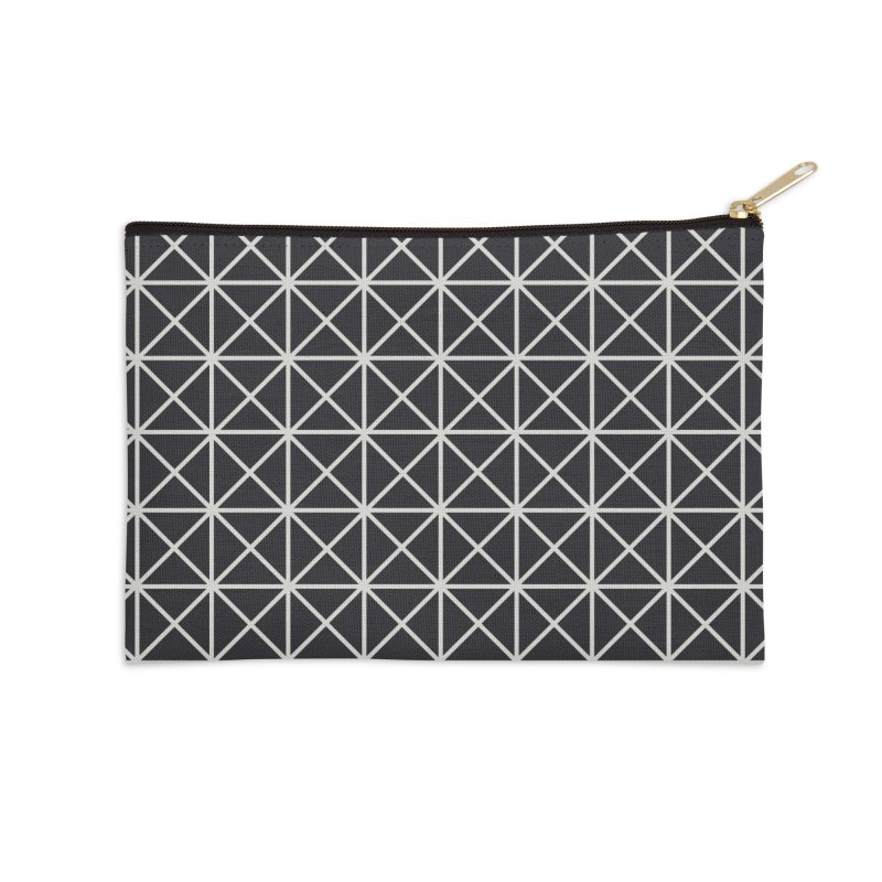 Prism Pattern Black Accessories Zip Pouch by foxandeagle's Artist Shop