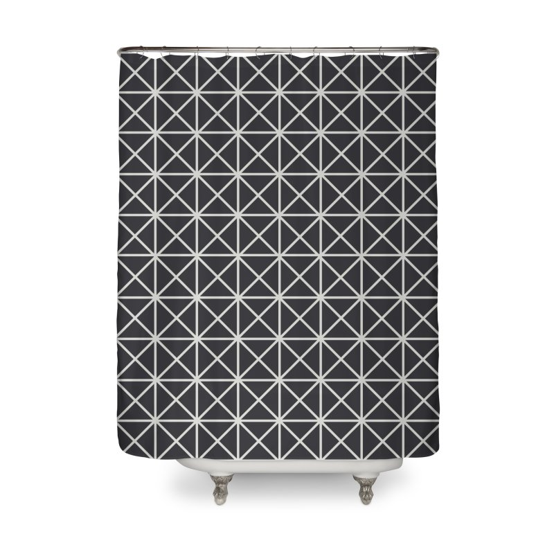 Prism Pattern Black Home Shower Curtain by foxandeagle's Artist Shop