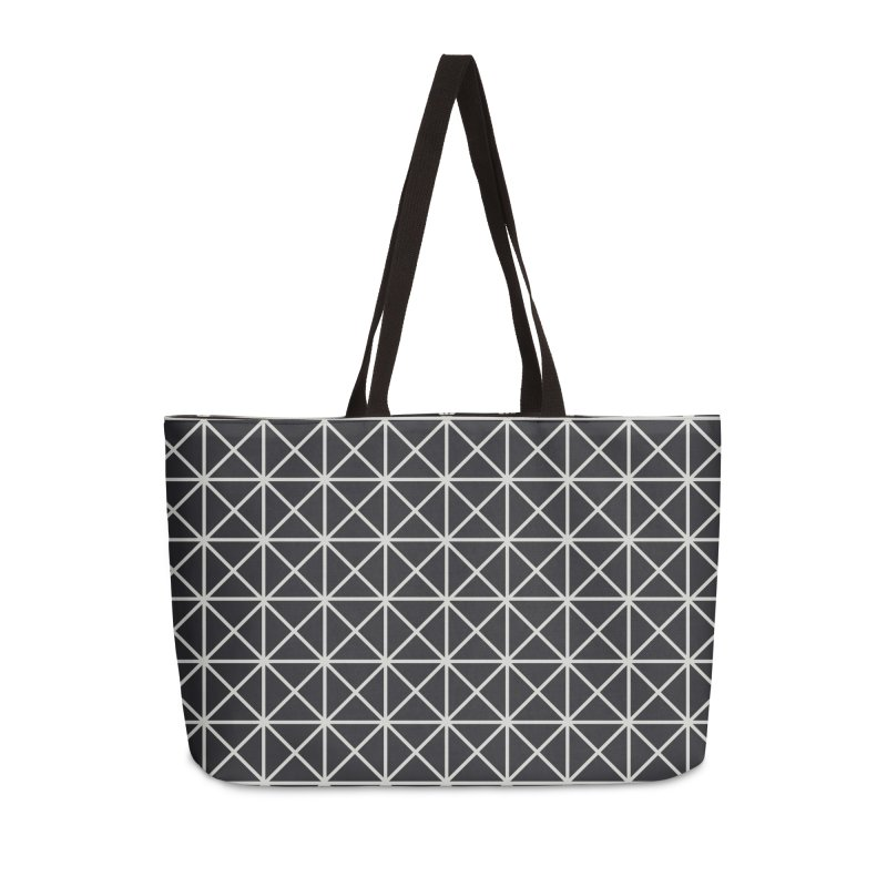 Prism Pattern Black Accessories Weekender Bag Bag by foxandeagle's Artist Shop