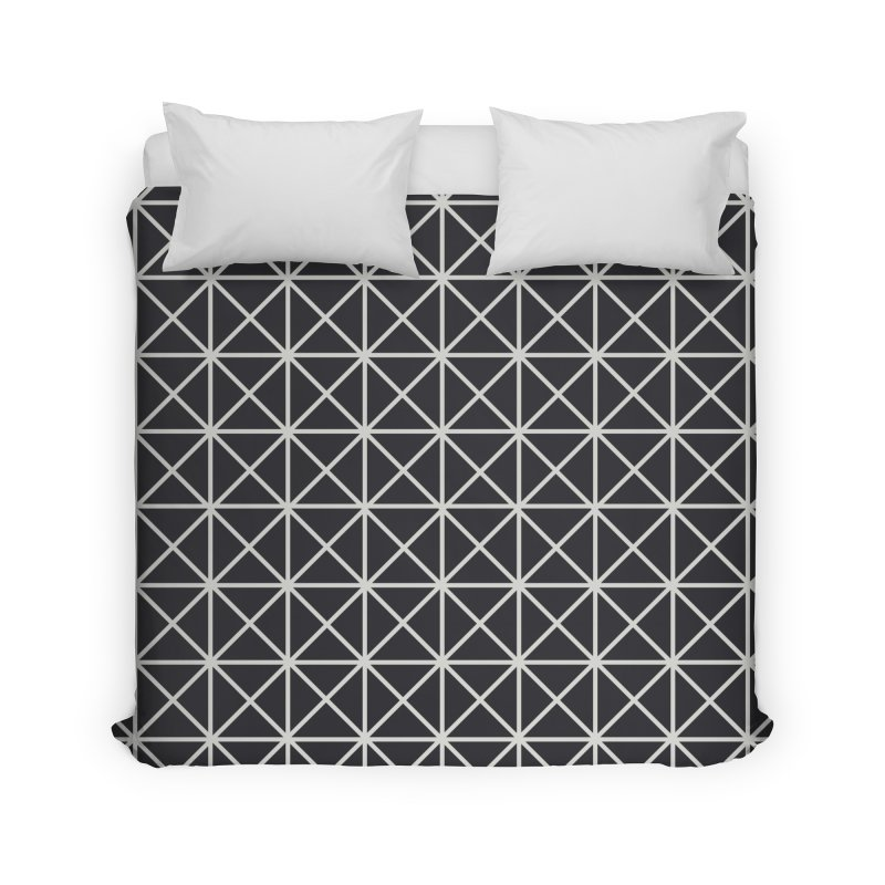 Prism Pattern Black Home Duvet by foxandeagle's Artist Shop