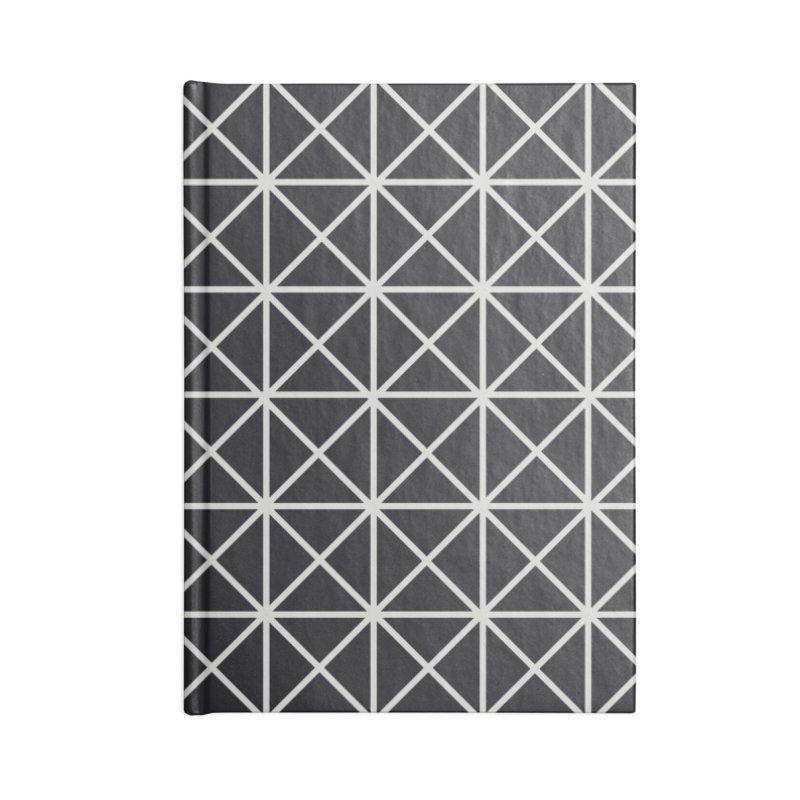 Prism Pattern Black Accessories Notebook by foxandeagle's Artist Shop