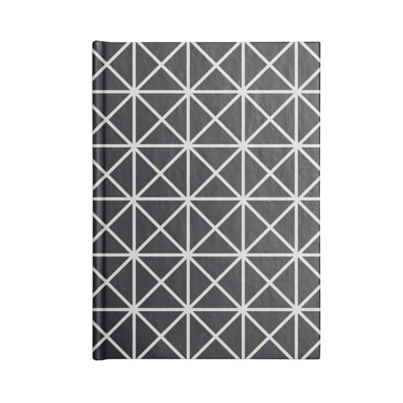 Prism Pattern Black Accessories Lined Journal Notebook by foxandeagle's Artist Shop