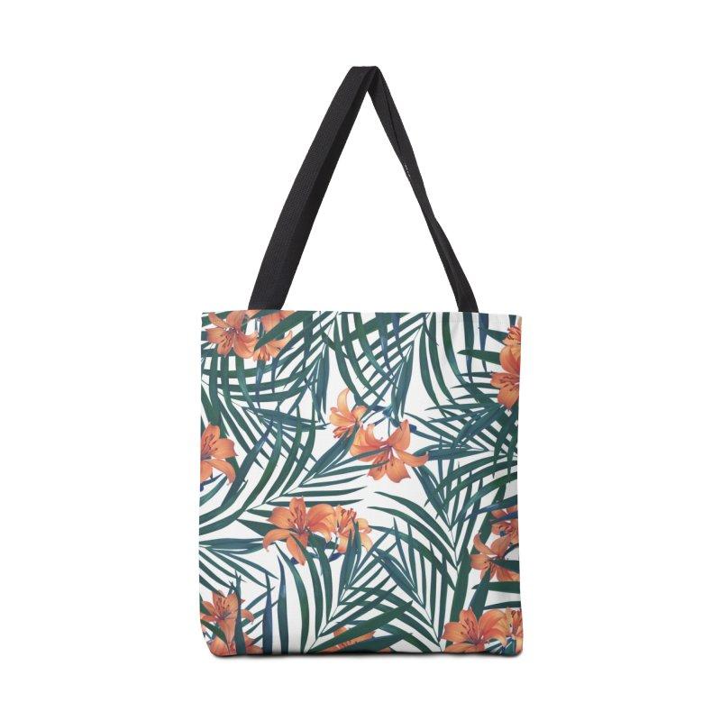 Tropical Lilies Accessories Tote Bag Bag by foxandeagle's Artist Shop