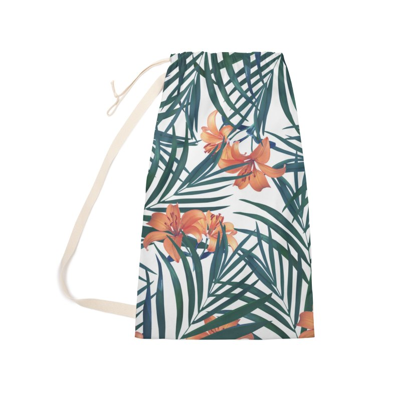 Tropical Lilies Accessories Laundry Bag Bag by foxandeagle's Artist Shop