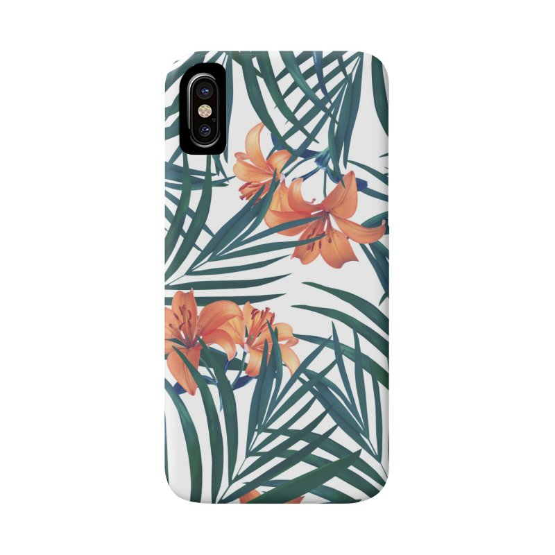 Tropical Lilies Accessories Phone Case by foxandeagle's Artist Shop