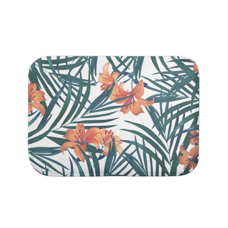 Tropical Lilies Home Bath Mat by foxandeagle's Artist Shop