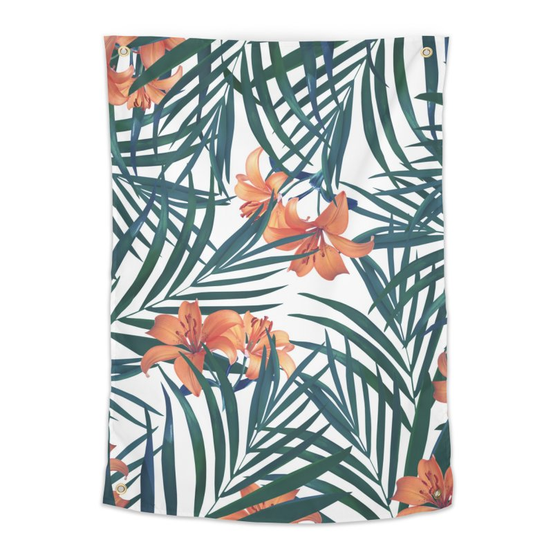 Tropical Lilies Home Tapestry by foxandeagle's Artist Shop
