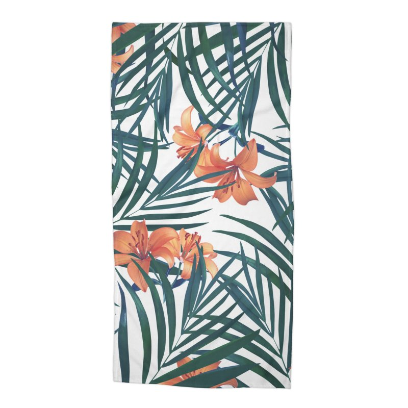 Tropical Lilies Accessories Beach Towel by foxandeagle's Artist Shop