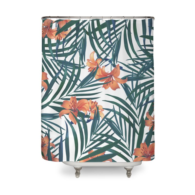 Tropical Lilies Home Shower Curtain by foxandeagle's Artist Shop