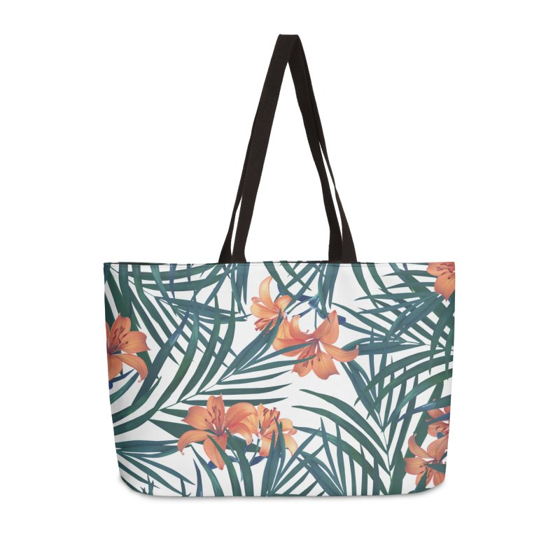 Tropical Lilies Accessories Weekender Bag Bag by foxandeagle's Artist Shop