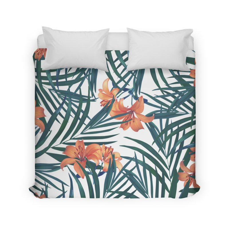 Tropical Lilies Home Duvet by foxandeagle's Artist Shop
