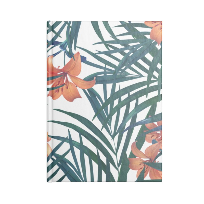 Tropical Lilies Accessories Lined Journal Notebook by foxandeagle's Artist Shop
