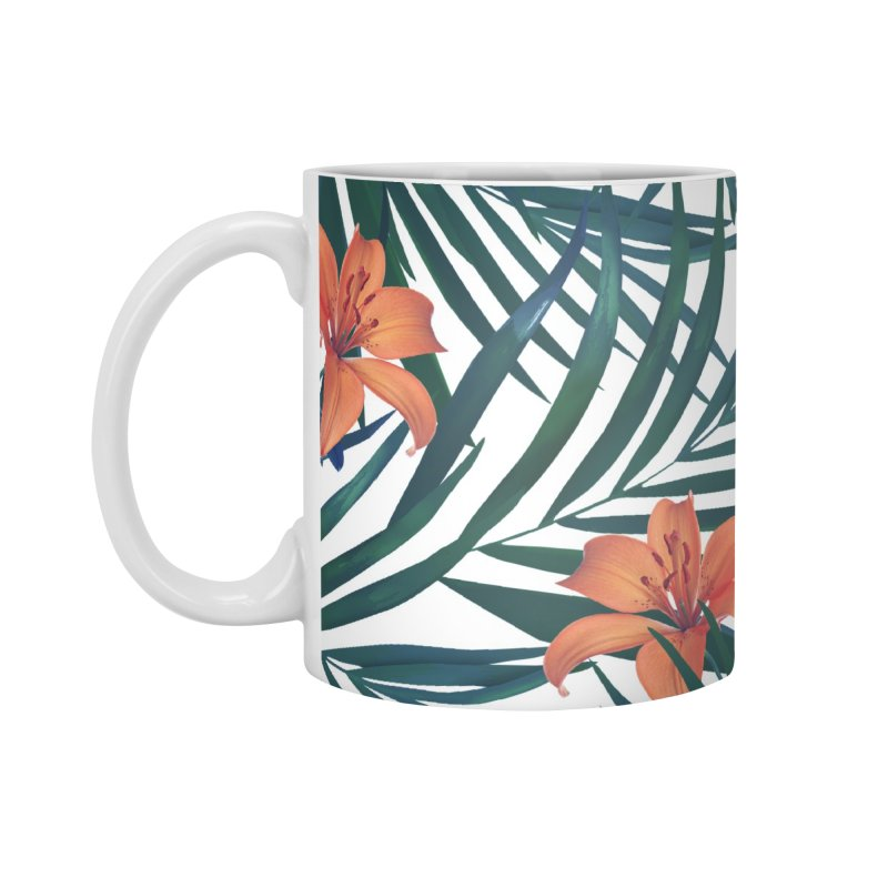 Tropical Lilies Accessories Mug by foxandeagle's Artist Shop
