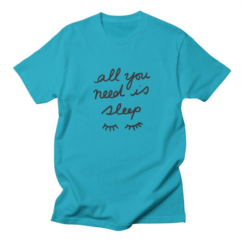 All You Need Is Sleep Women's Regular Unisex T-Shirt by foxandeagle's Artist Shop